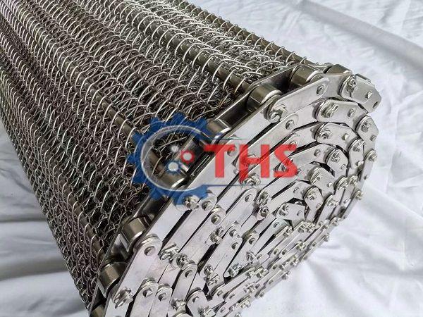 Băng tải lưới inox 304 sợi xoắn