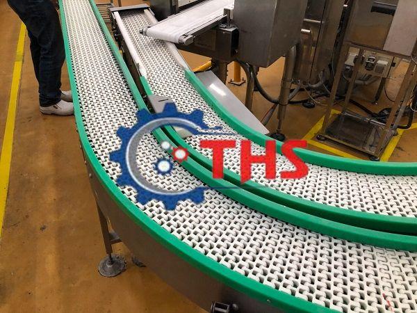 Băng tải nhựa có độ bền cao, thiết kế vô cùng thẩm mỹ cho nhà máy chế biến thực phẩm