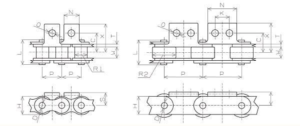 Bảng cấu tạo chi tiết của Sên Xích Inox